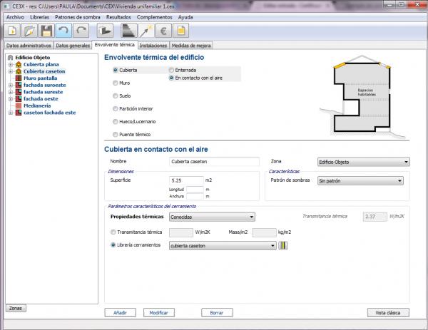 CE3X Configuración casetón