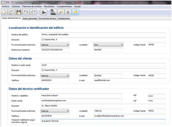 CE3X Datos Generales