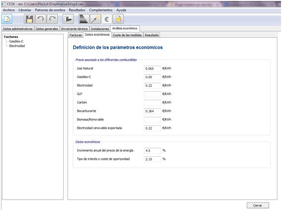 CE3X Datos factura