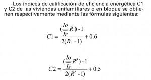 formula calificacion energetica