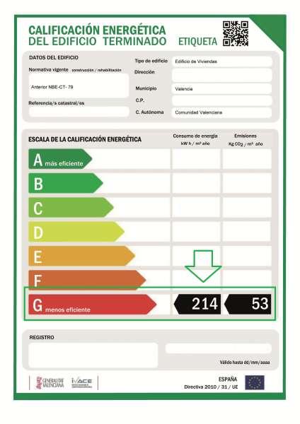 consumo energia certificado energetico