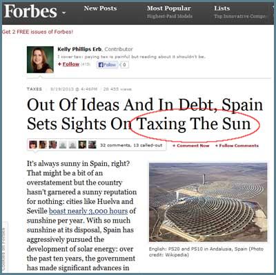 forbes impuesto tasa fotovoltaica sol
