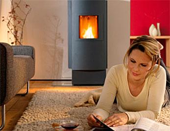 caldera biomasa decorativa calefaccion