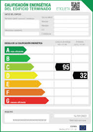 etiqueta registro certificado energetico
