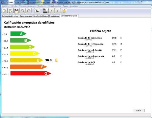 calificacion certificacion energetica
