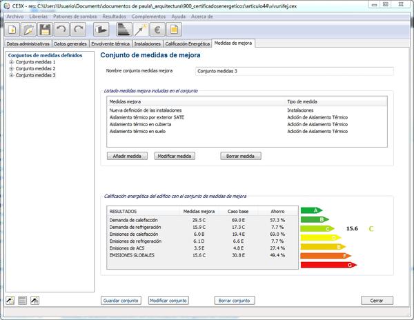 medida mejora certifiacion instalaiciones