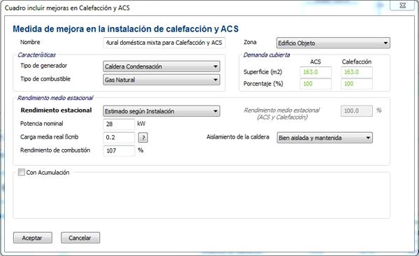 caldera condensacion certificacion energetica