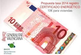 tasa registro certificado comunidad valenciana