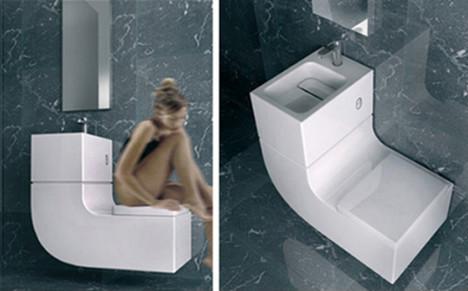 water + lavabo aguas grises