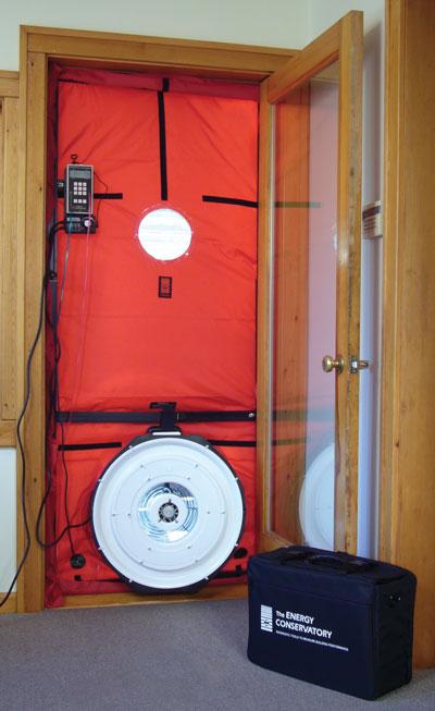 blower door ventilador certificacion