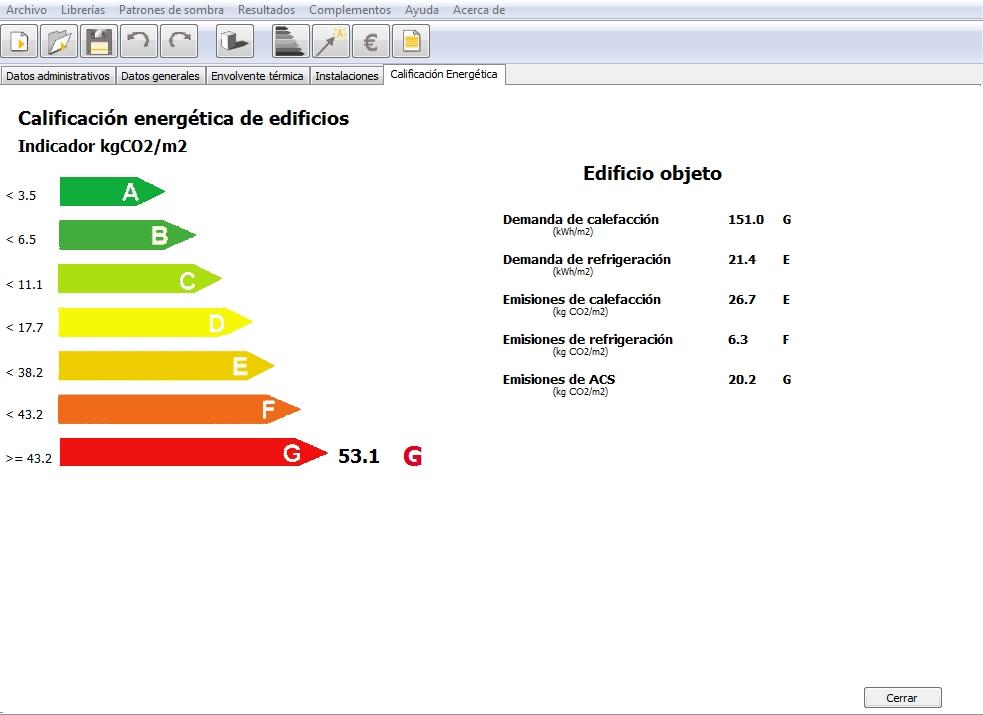 calificacion inicial certificado energetico