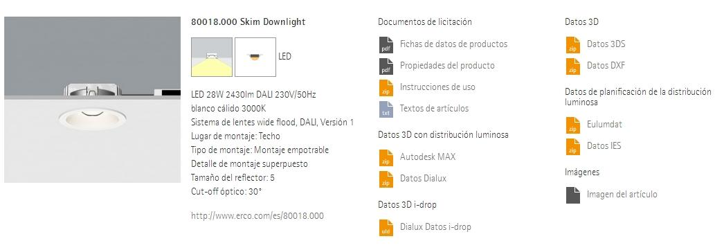 downlight iluminación eficiente LED
