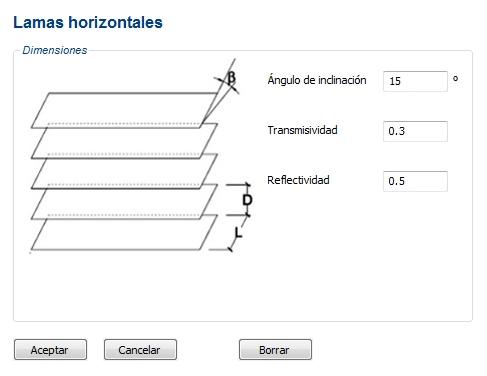 lamas horizontales ce3x