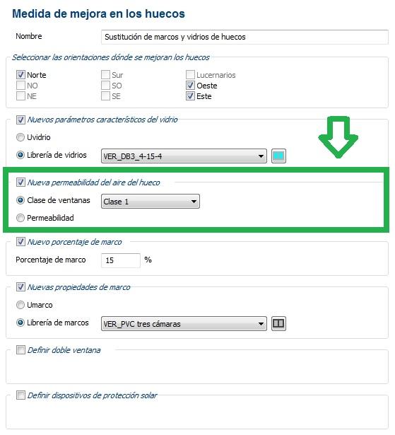 medida mejora permeabilidad aire certificacion