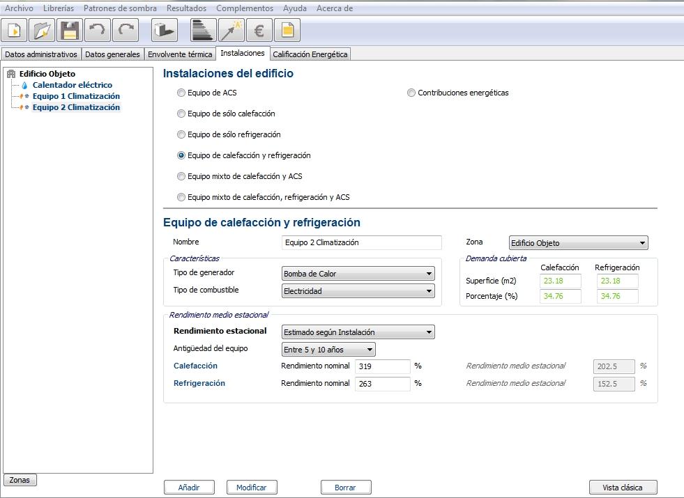 climatizacion certificado energetico ce3x