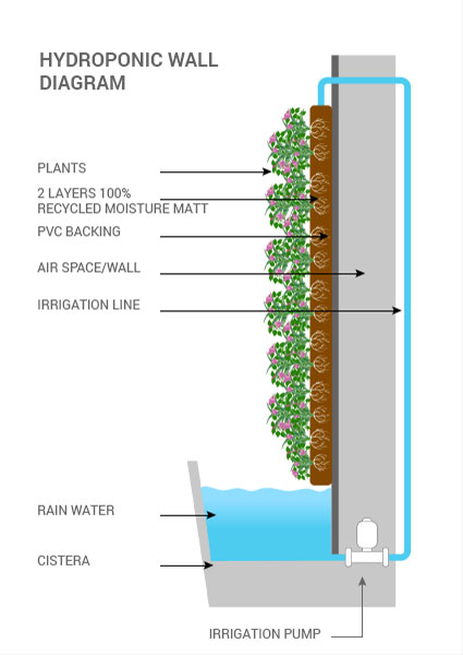 fachada vegetal sistema riego eficiente