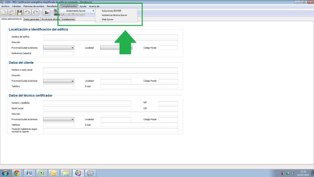 complemento ce3x isover certificadores certificado