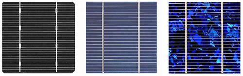silicio monocristalino policristalino célula solar