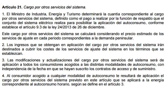 peaje respaldo otros servicios sistema
