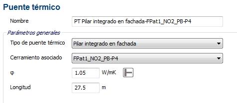 puente termico ce3x transmitancia lineal