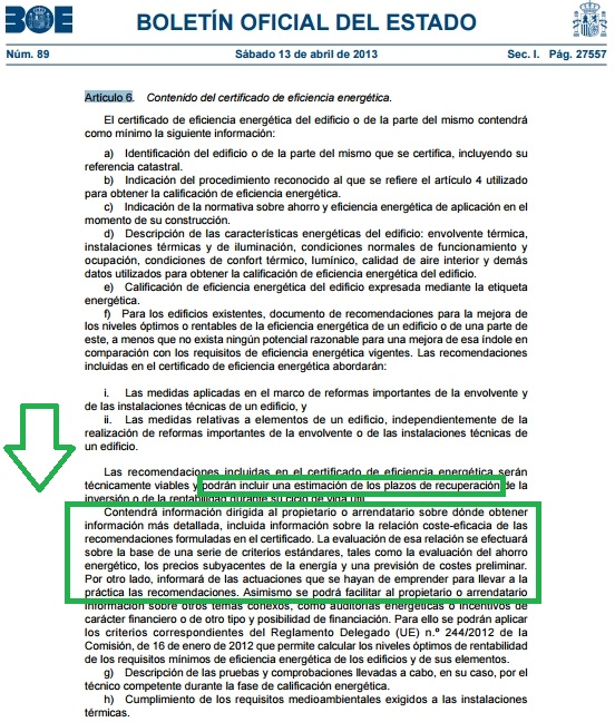 articulo 6 rd 235 2013 analisis economico