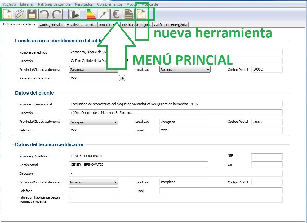 ce3x nueva version certificado energetico