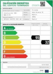 certificado energético calificación energética etiqueta