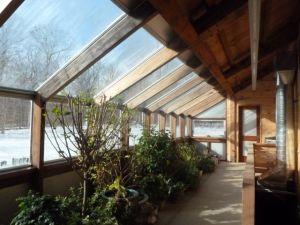 invernadero ganancia solar calefaccion vivienda