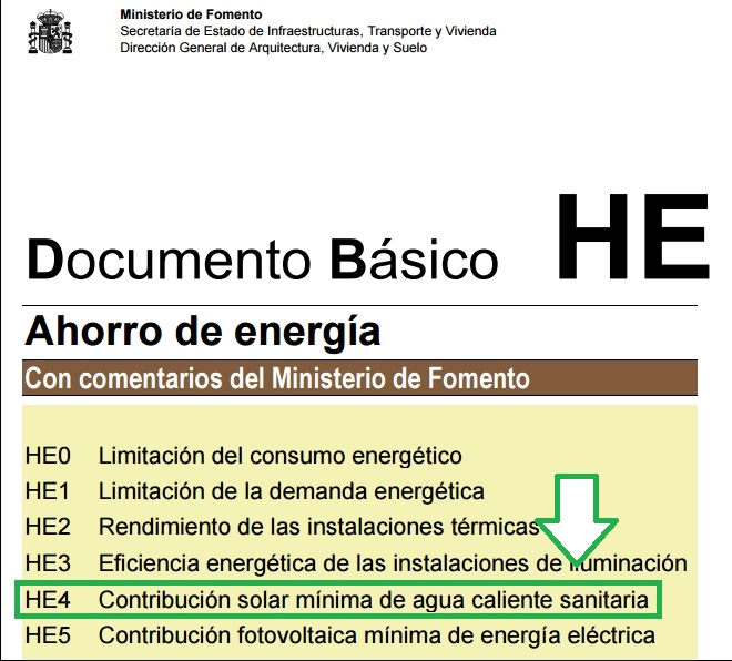 Consumo diario de ACS en el certificado energético