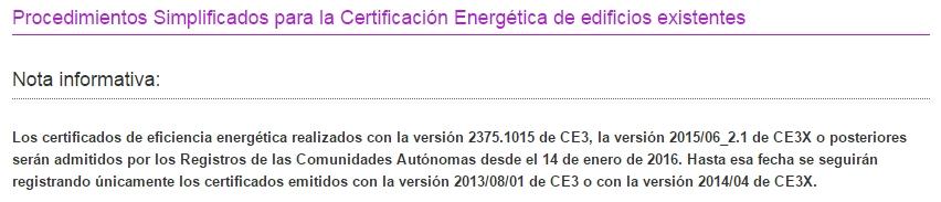 versión CE3X 2 1 certificado energético iluminación