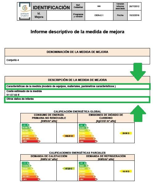 complemento ce3x panel medidas mejora informe