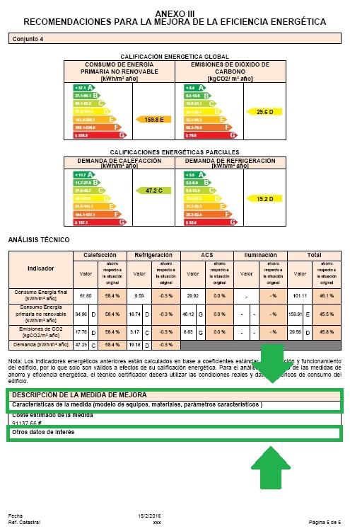 complemento ce3x panel medidas mejora certificado
