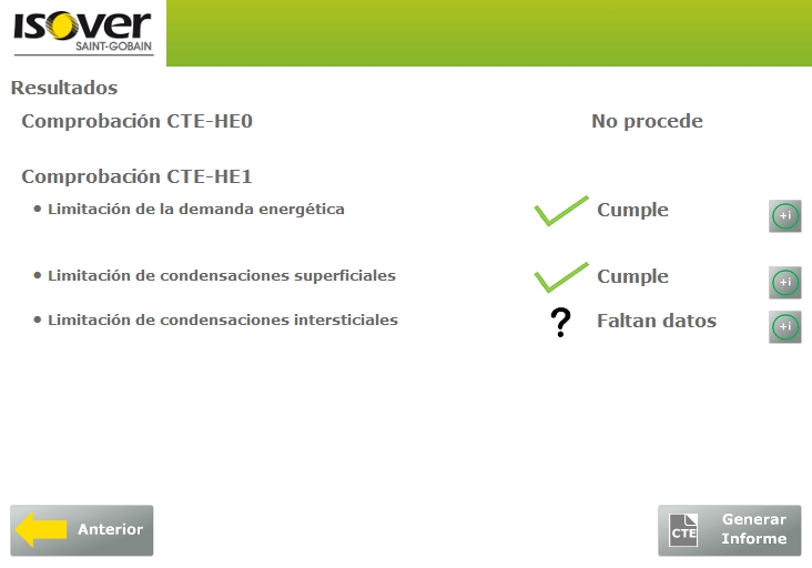 complemento CE3X cumplimiento requisitos condensaciones intersticiales