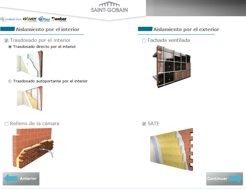 complento ce3x medidas mejora automatizada SATE trasdosado interior