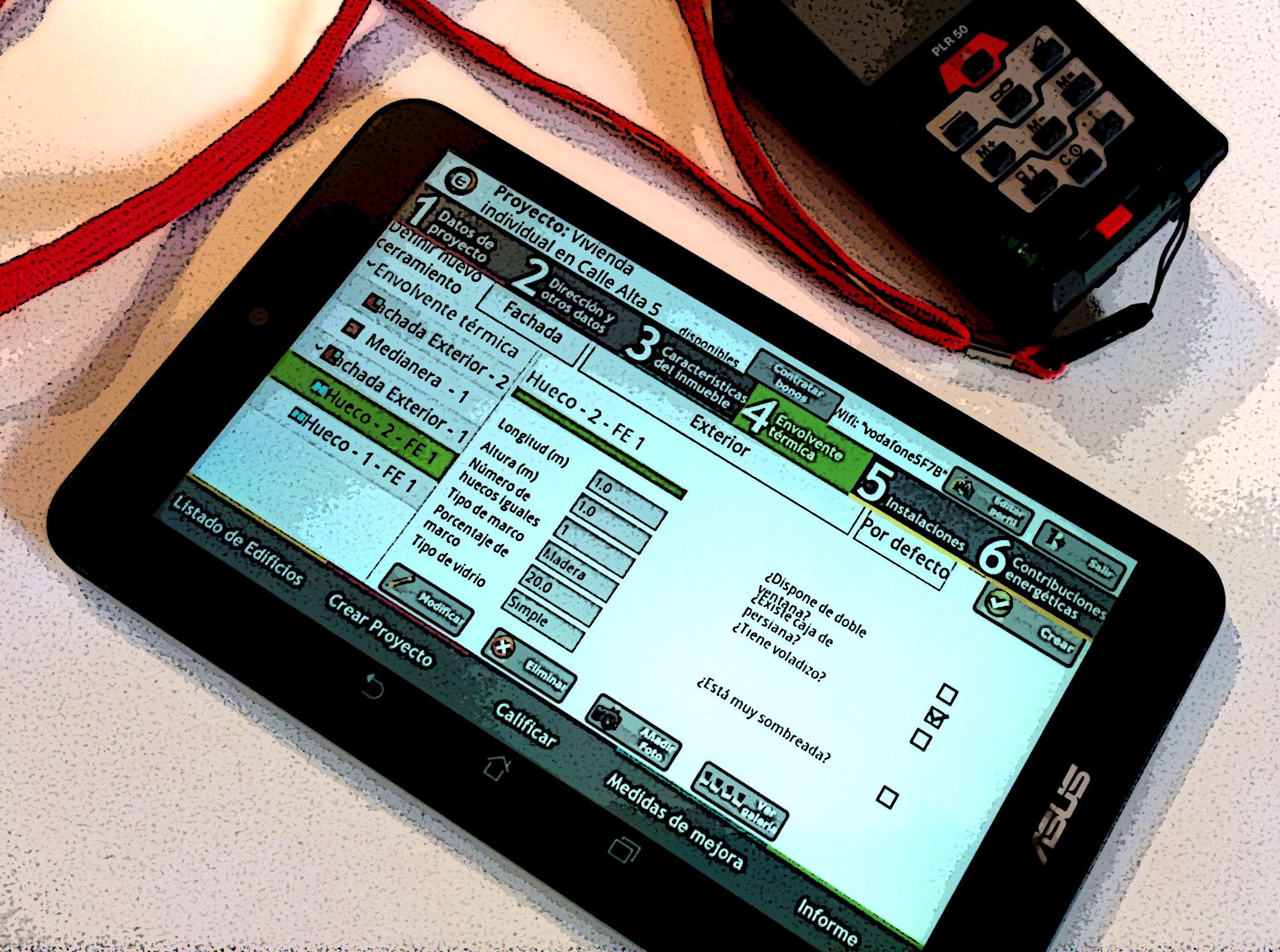 Aplicación android CE3X: el certificado energético en menos tiempo