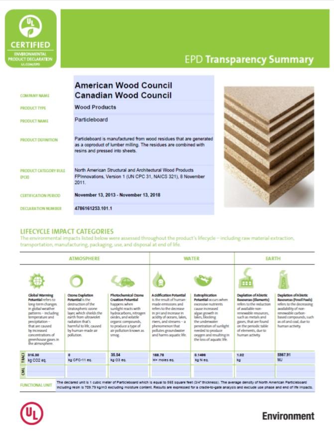declaracion ambiental de producto transparencia impactos