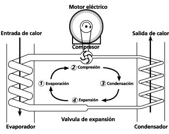 bomba de calor compresor ciclo de carnot eficiencia energetica