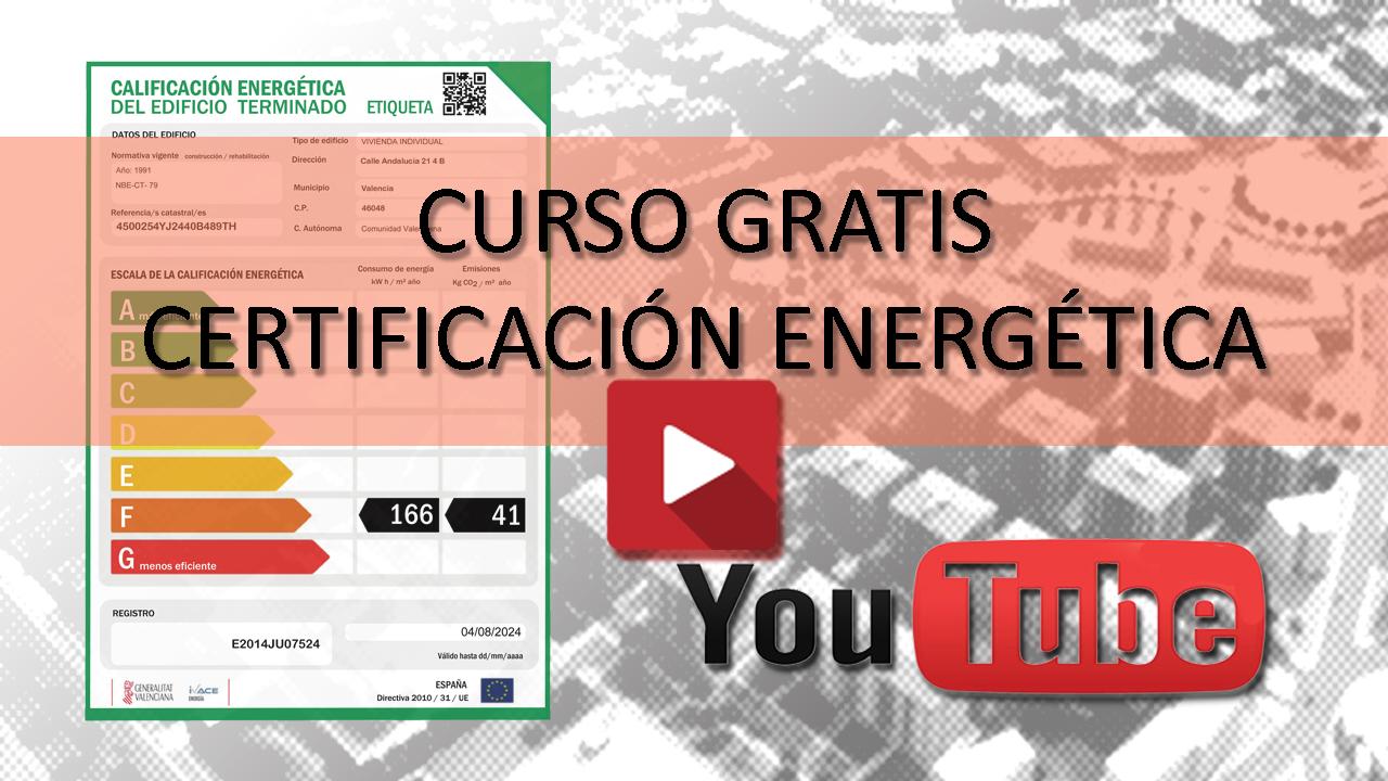 certificado energético curso gratis certificacion energetica