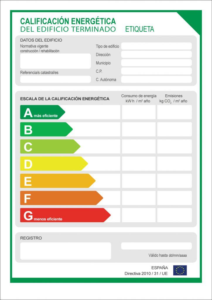 etiqueta energetica certificado energetico