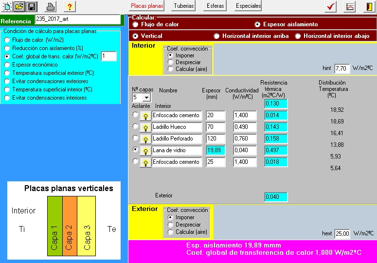 AISLAM calculo espesor aislamiento termico CTE