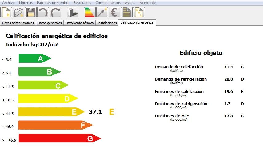 mejora desde archivo calificación energética