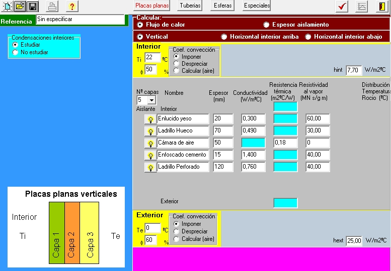 aislam calculo condensaciones interiores