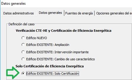 Lider-Calener solo certificación edificios existentes