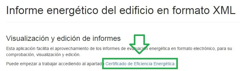Visor CTE XML certificado de eficiencia energetica