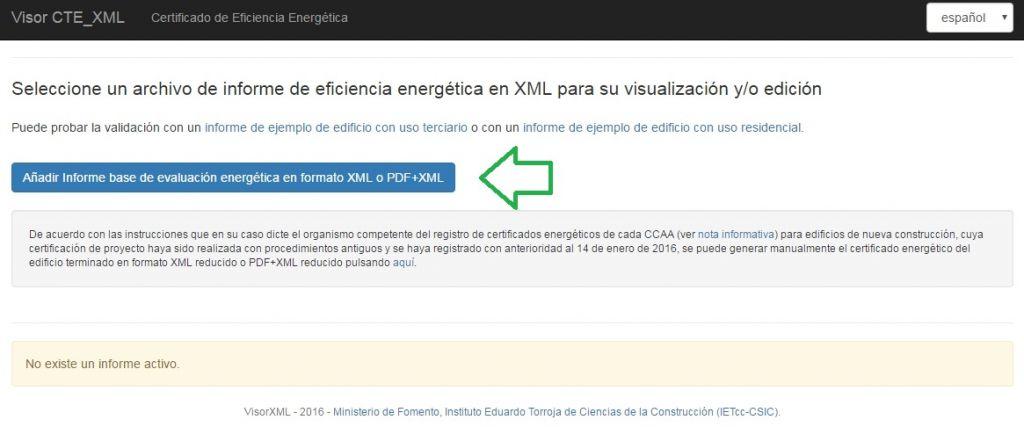 Visor XTE XML certificado eficiencia energética DB HE 2013
