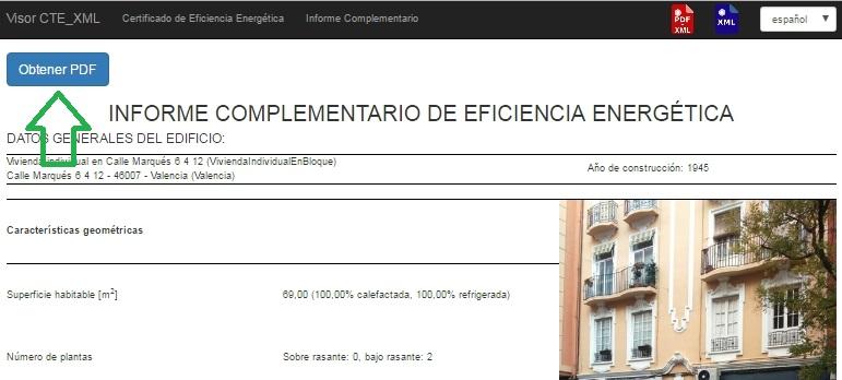 Visor CTE XML informe complementario generar PDF