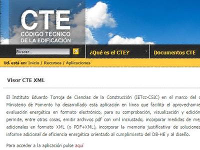 Visor CTE XML certificado energetico