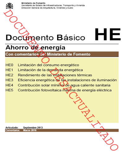 modificacion del DB HE y DB HS