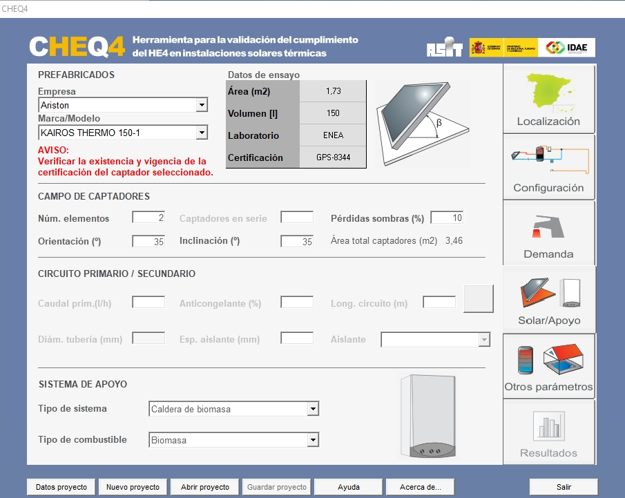 CHEQ4 instalacion solar termica equipo apoyo