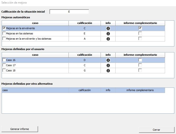 CE3 seleccion medida mejora